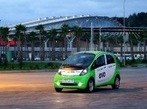 Electric car Mitsubishi I-MiEV is the first eco-friendly taxi in Sochi