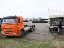 KAMAZ produced the first lot of cars on liquefied natural gas