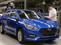 The St. Petersburg plant Hyundai increased the production by 17% in the first half of the year