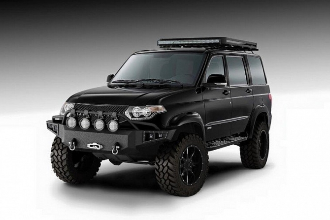 autostat american tuning studio devolro will redesign completely uaz patriot. Black Bedroom Furniture Sets. Home Design Ideas