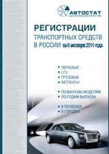 Registration of vehicles in Russia during 6 months of 2011