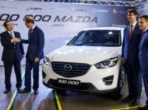 In Vladivostok, the assembly line produced the 100,000th Mazda