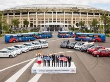 Hyundai and KIA transferred cars for the official parc of the FIFA 2018 World Cup