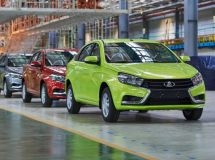 Production of LADA Vesta cars grew by 8% for 4 months