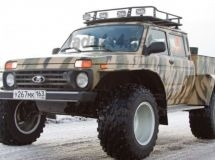 It was launched the production of LADA 4x4 pickup with low pressure tires