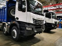 KAMAZ began the tests of the latest dump truck with K5 cab