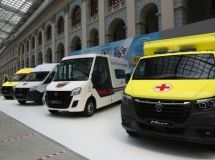 GAZ medical vehicles are presented at a specialized forum